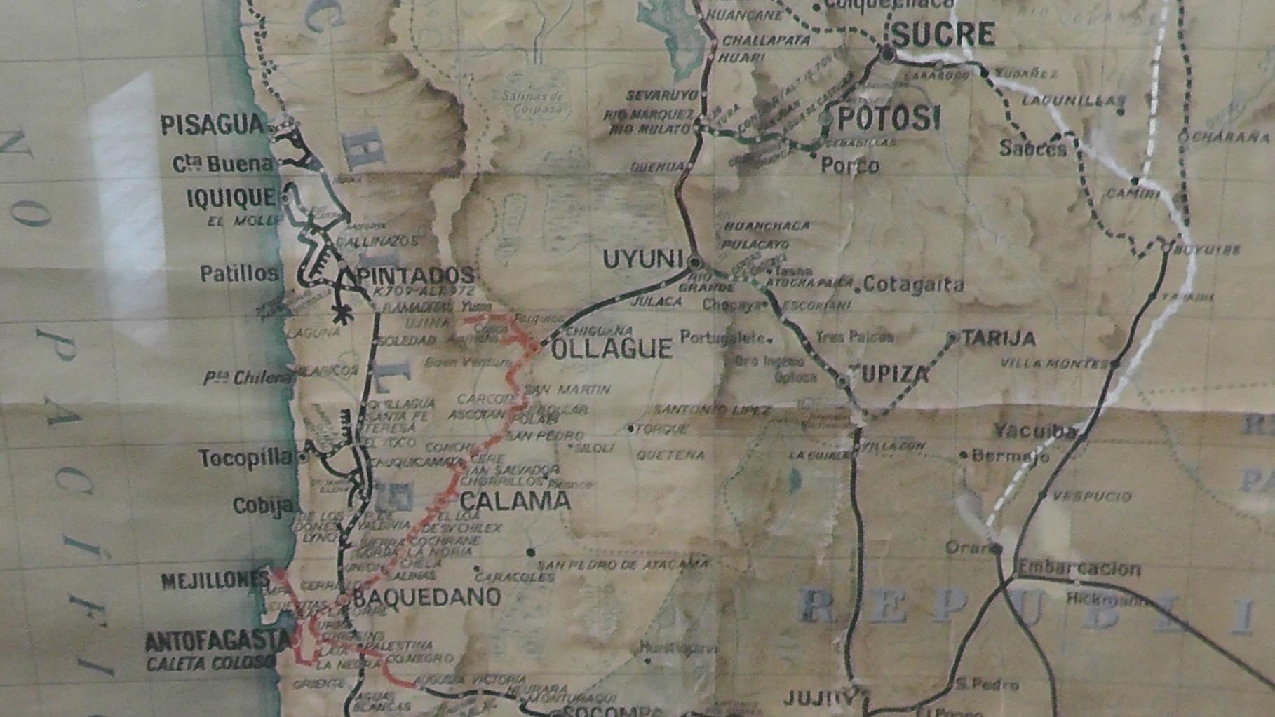 Die Strecke Antofagasta - Bolivien