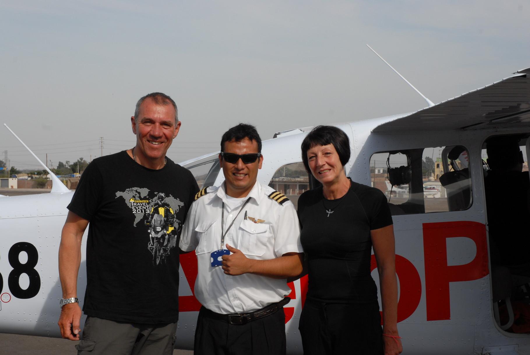 Der Pilot mit uns