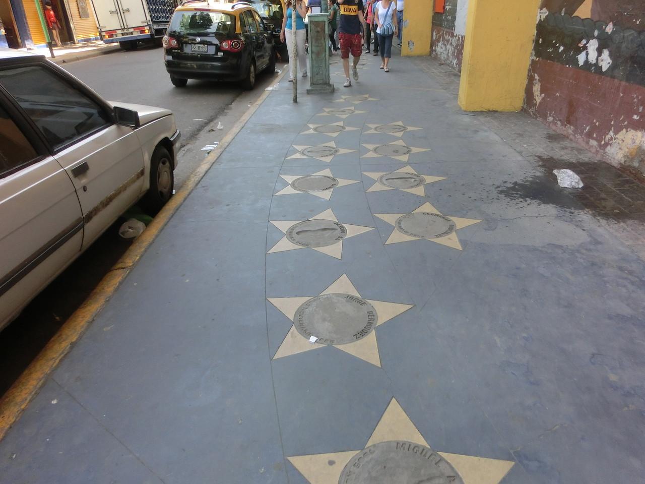 """Draußen gibt es einen """"Walk of Fame"""""""