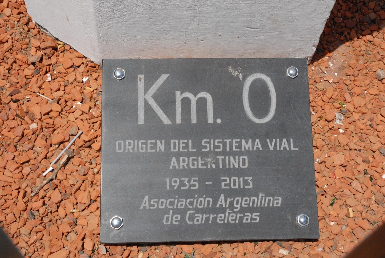Mittelpunkt aller Straßen in Argentinien