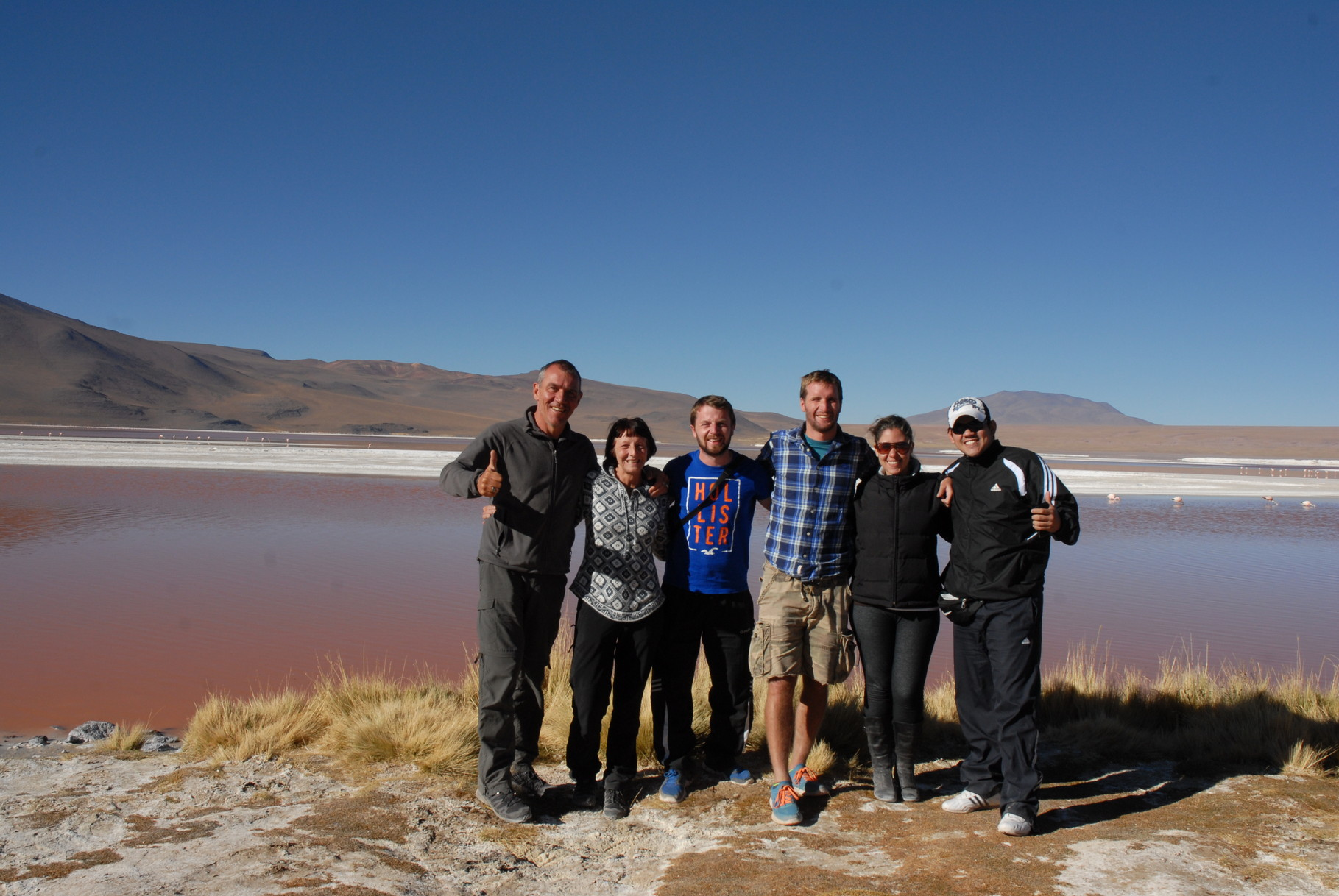 Gruppenfoto mit unseren Mitreisenden