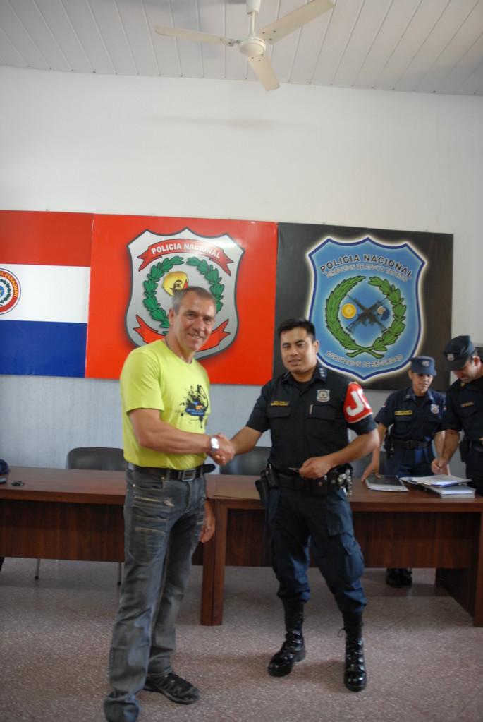 Nette Unterhaltung mit Official Inspector Alfredo Blanco