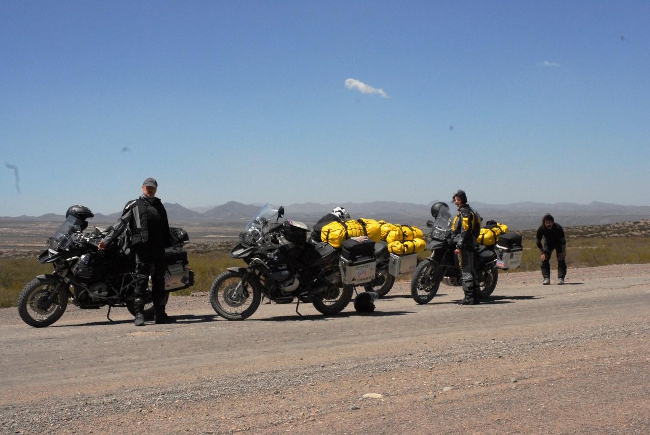 Pause nach 40 km Schotter