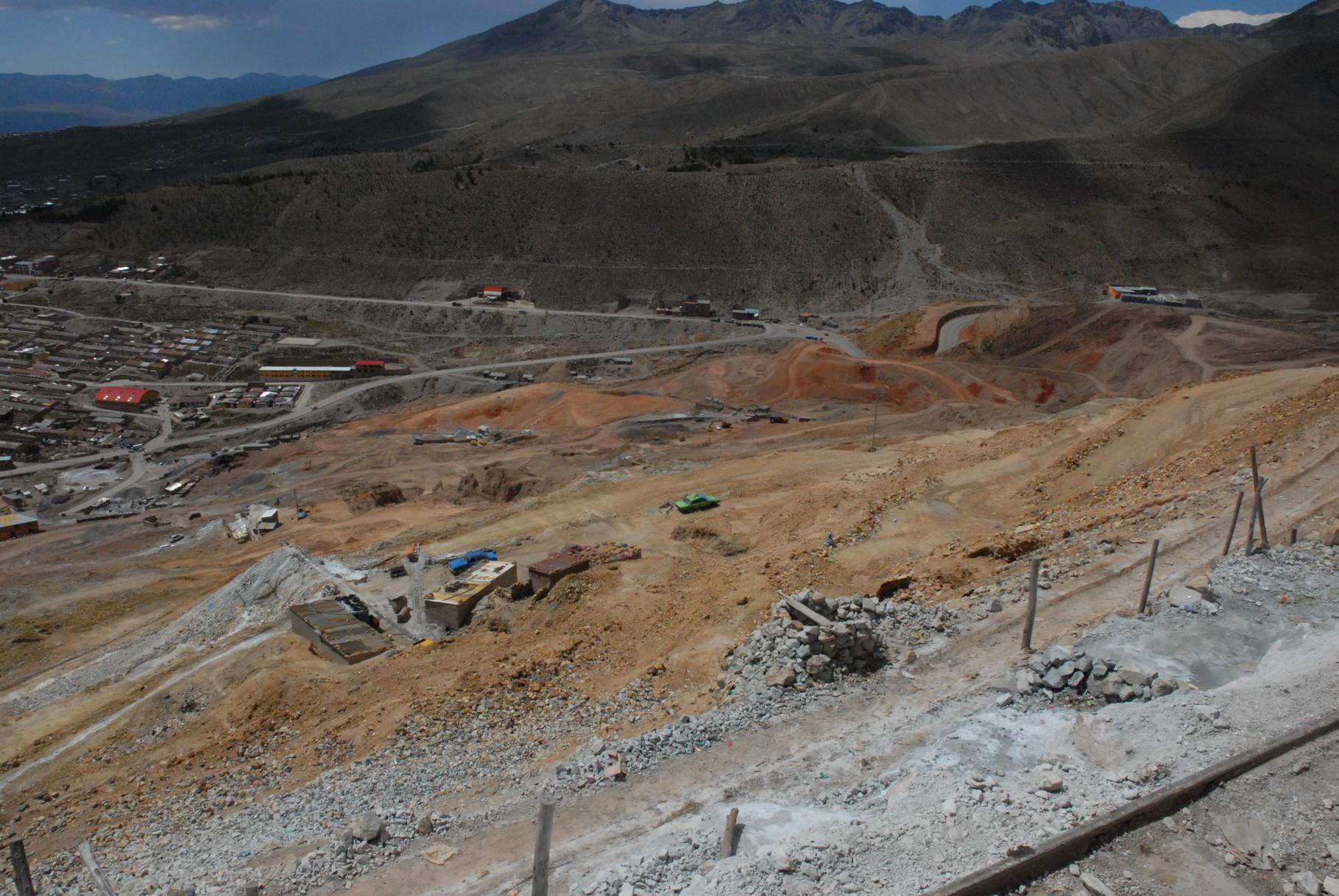 Blick von der Mine ins Tal