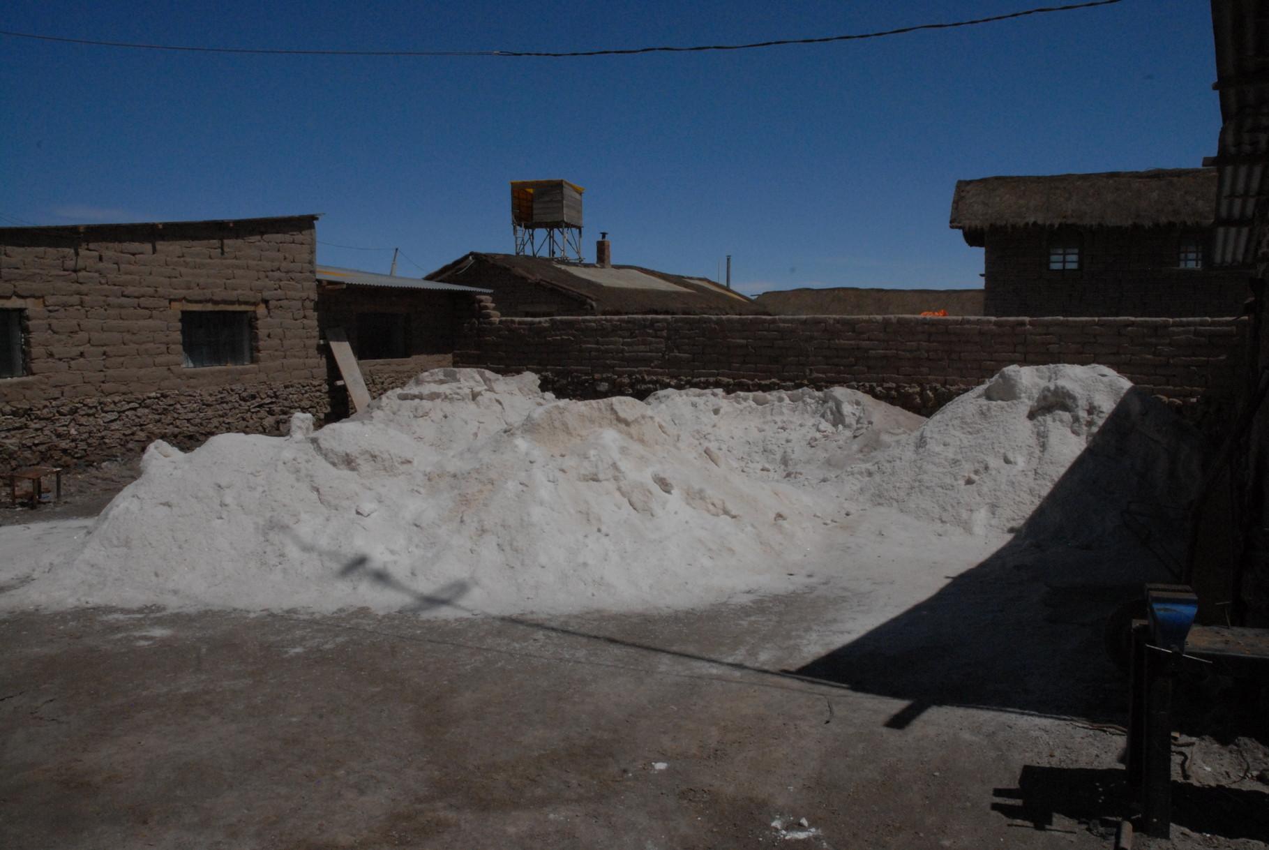 Das Salzlager vor der Verarbeitung