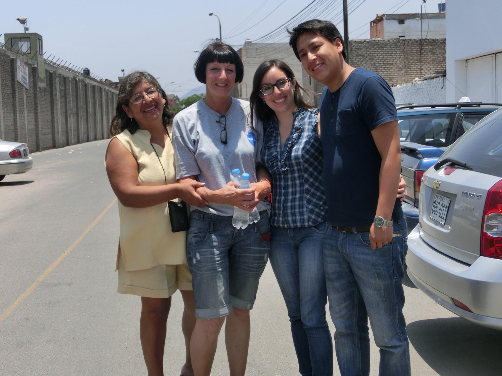 Anita, Rosi, Sandra und Alonso