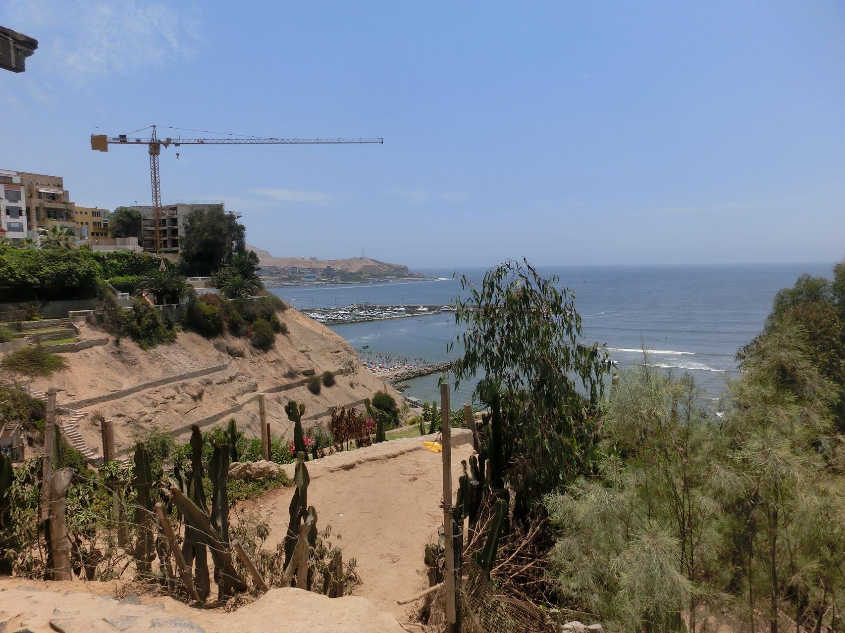 Blick von Barranco aufs Meer