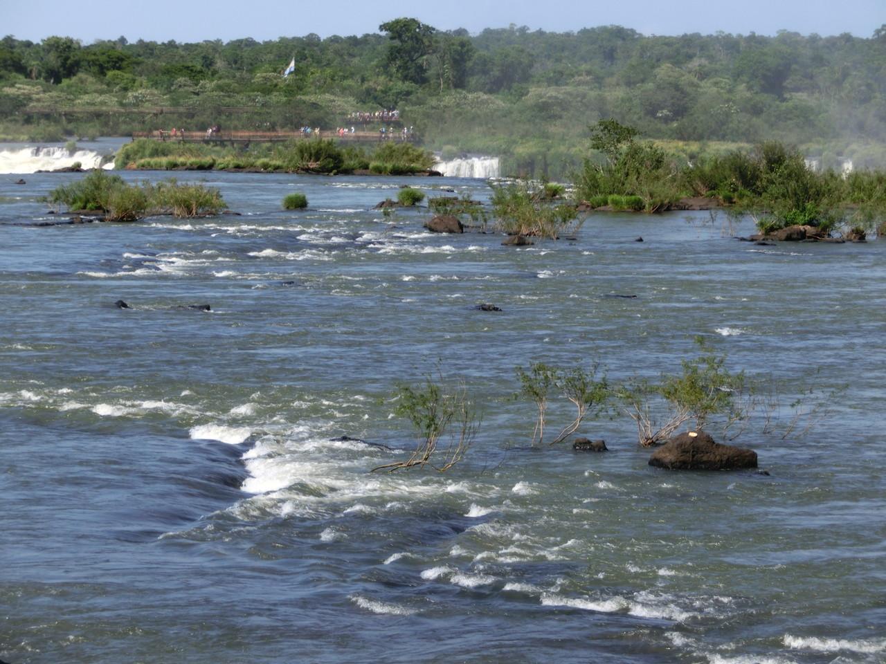 Der Oberlauf des Rio Iguazú