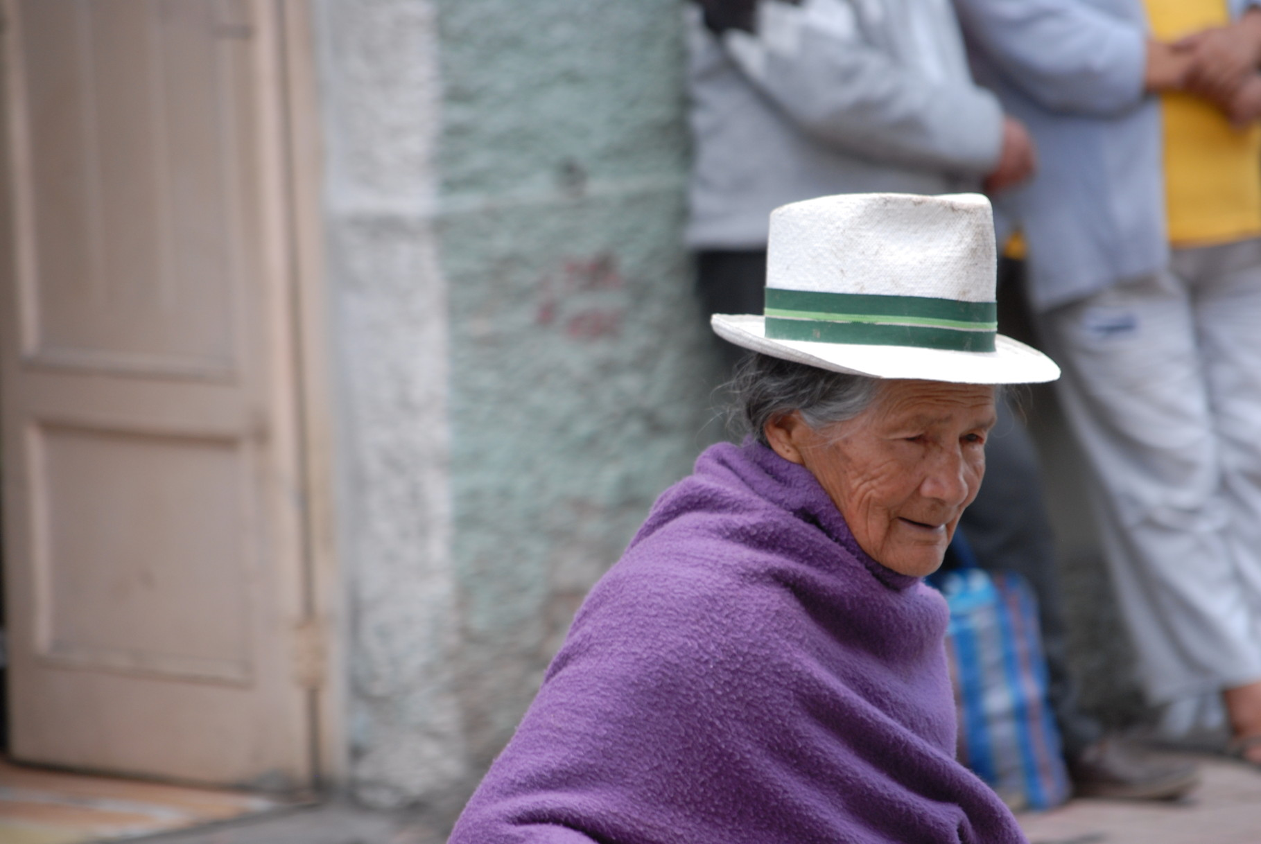 Eine nette ecuadorianische Omi