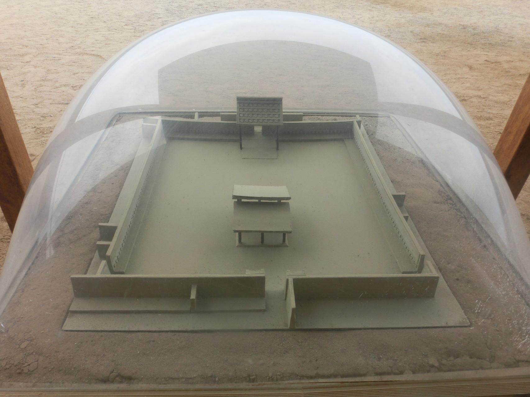 Ein Modell des Haupt- und Zeremonialplatzes