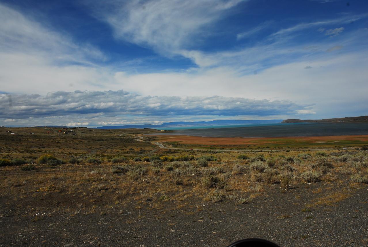 Der Lago Argentino im Hintergrund