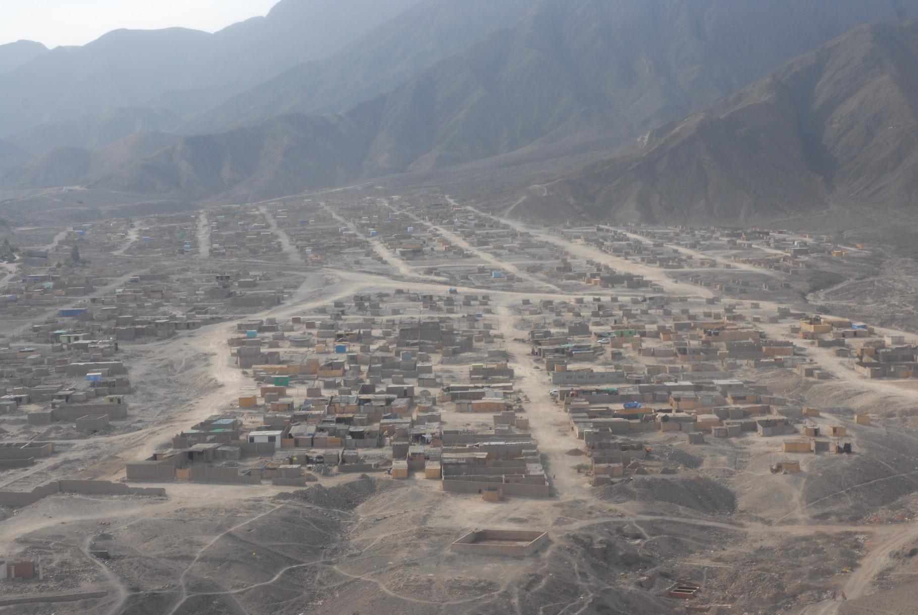 Ein Teil von Nazca aus der Luft