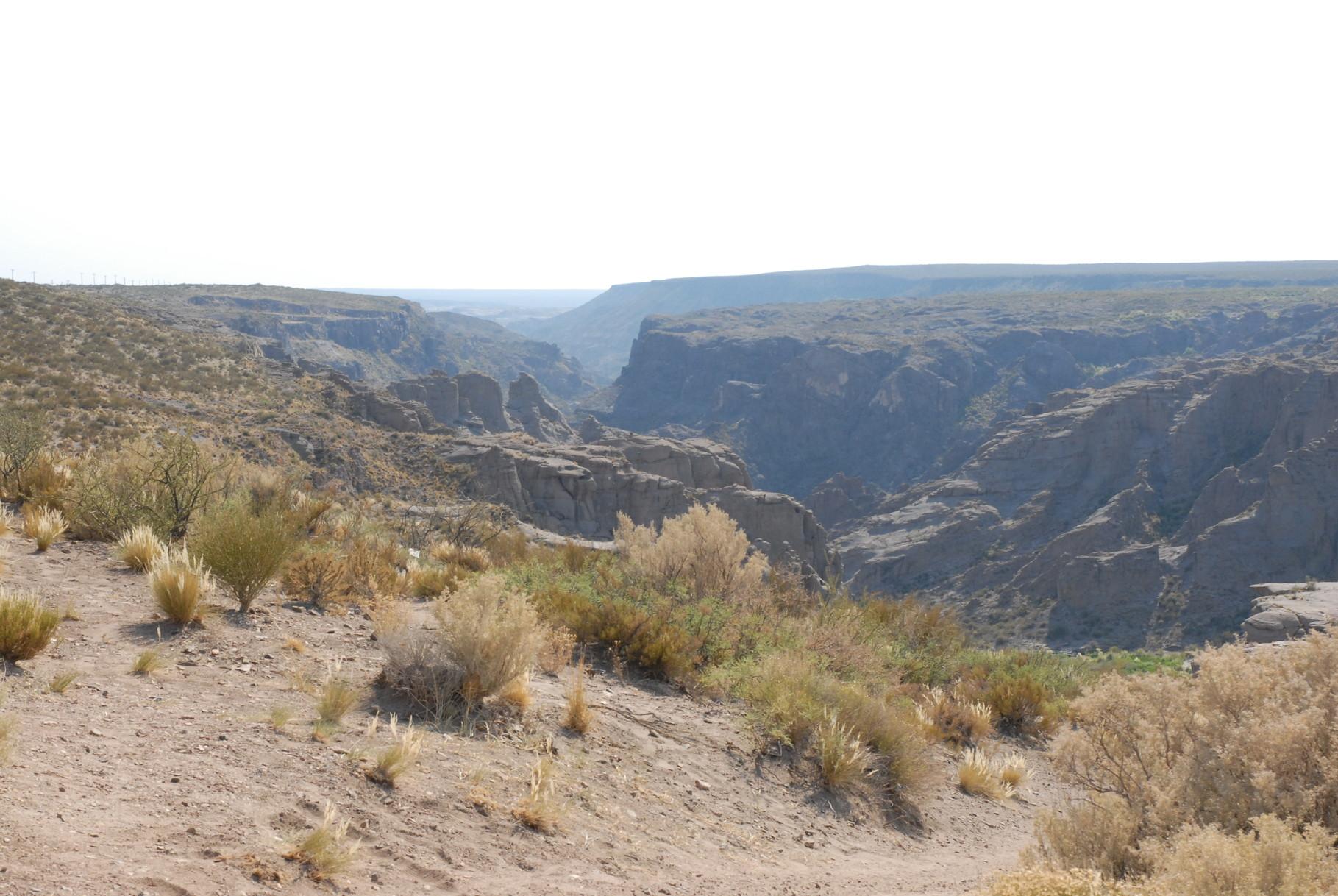 Der Eingang der Schlucht bei El Nihuil