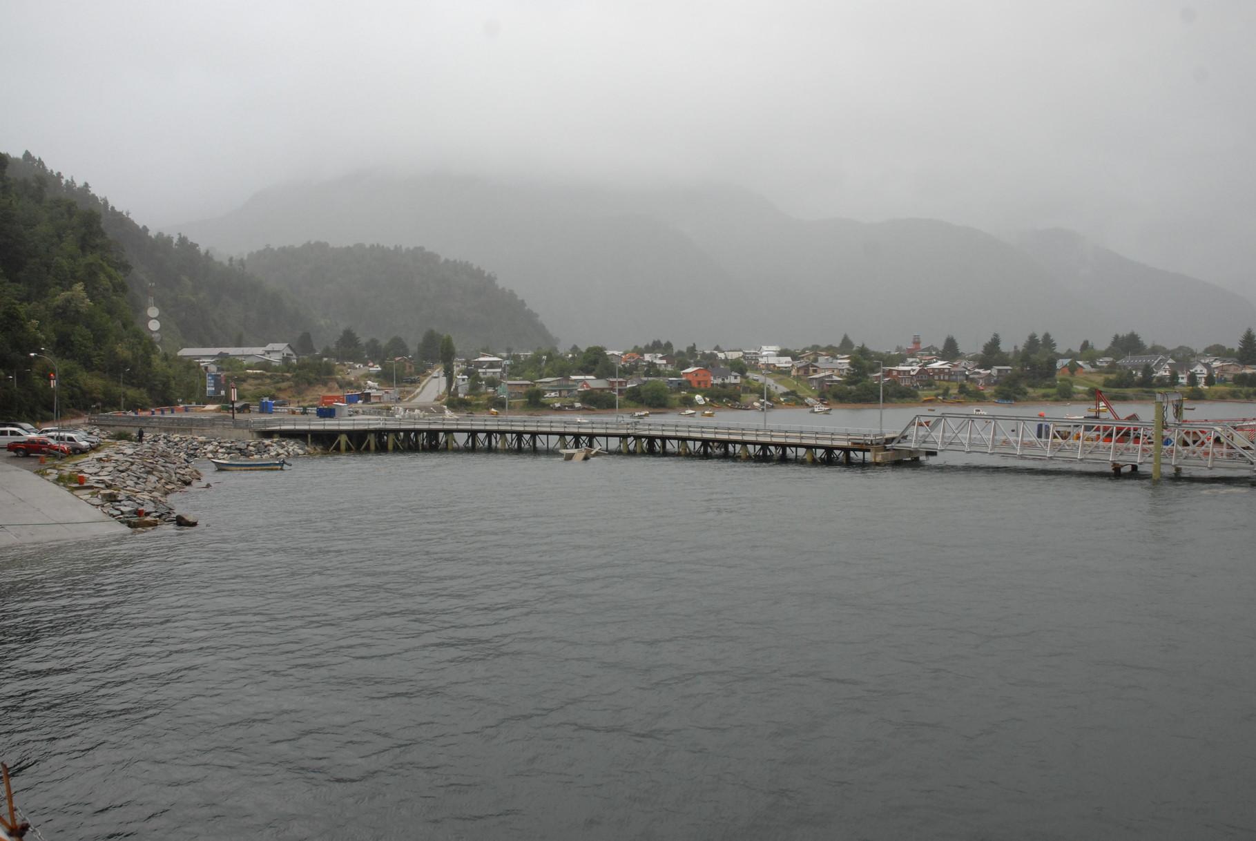 Der Hafen von Puerto Cisnes
