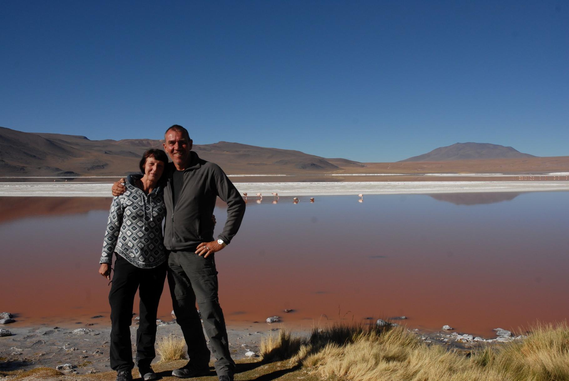 Die Adventourer vor der Laguna Colorada