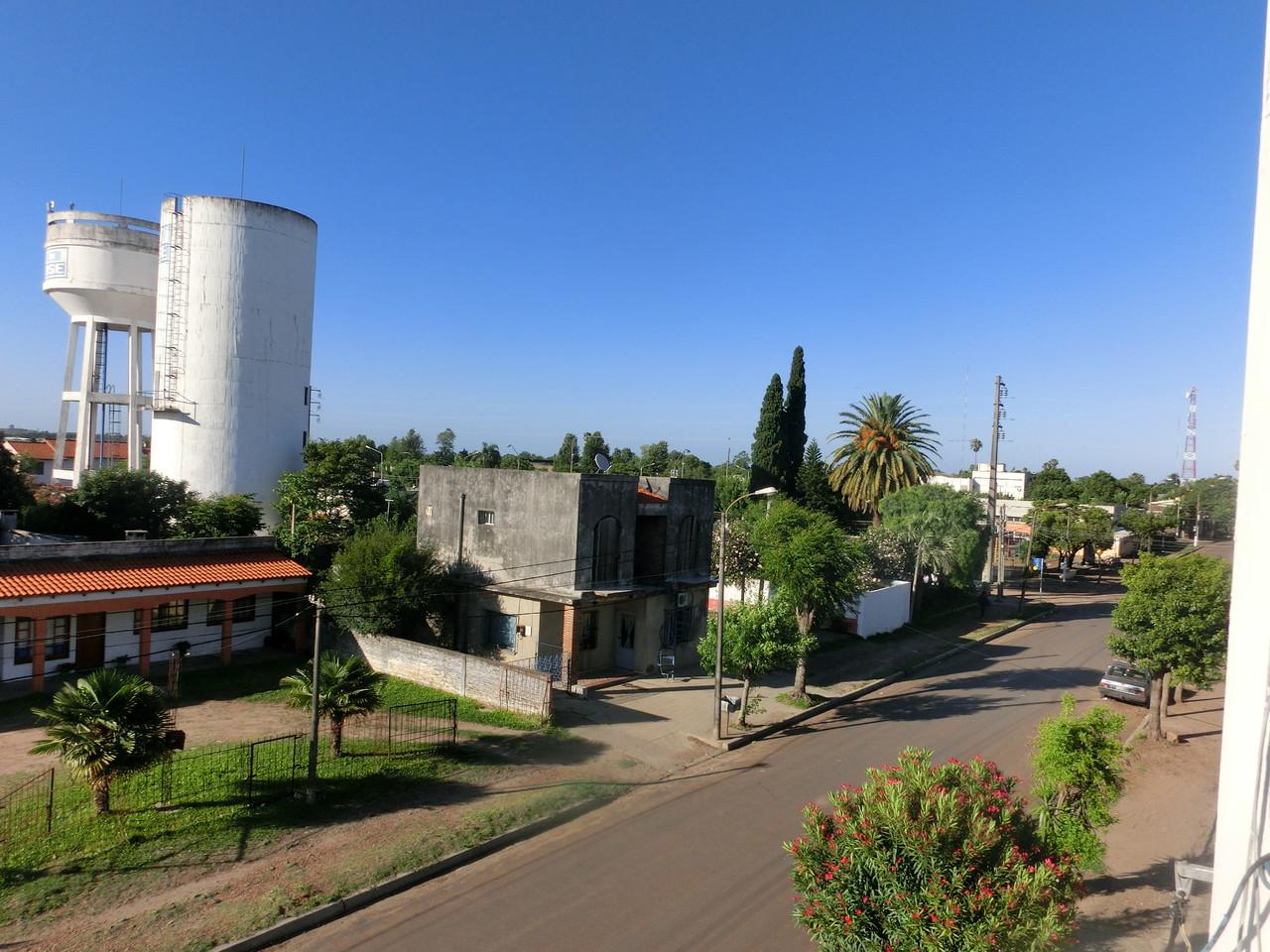 Blick von der Dachterasse in Bella Unión
