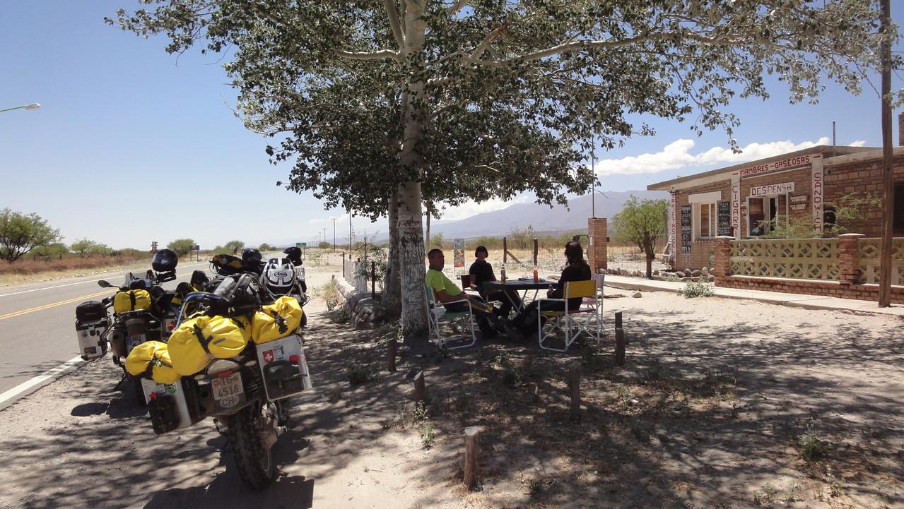 Pausenplätzle mitten in der Pampa