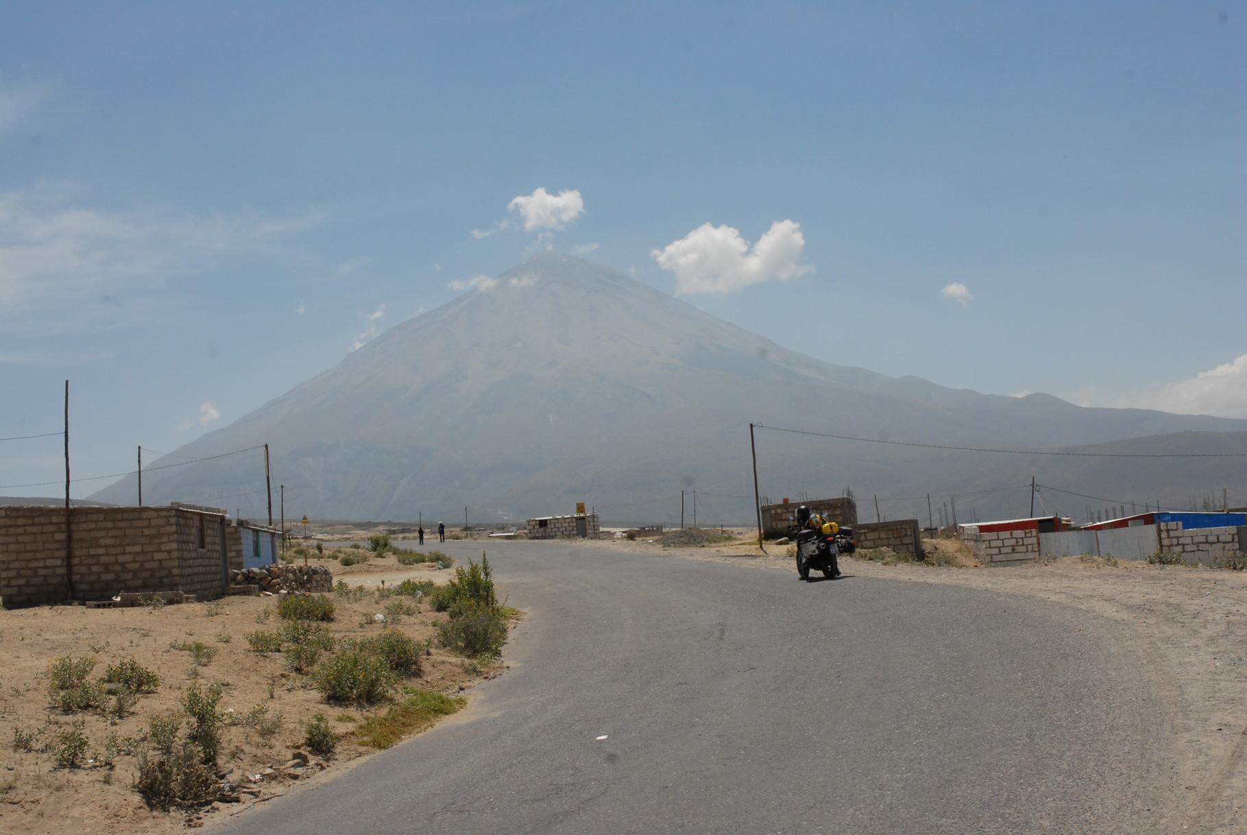 Der Volcano Misti aus der Nähe