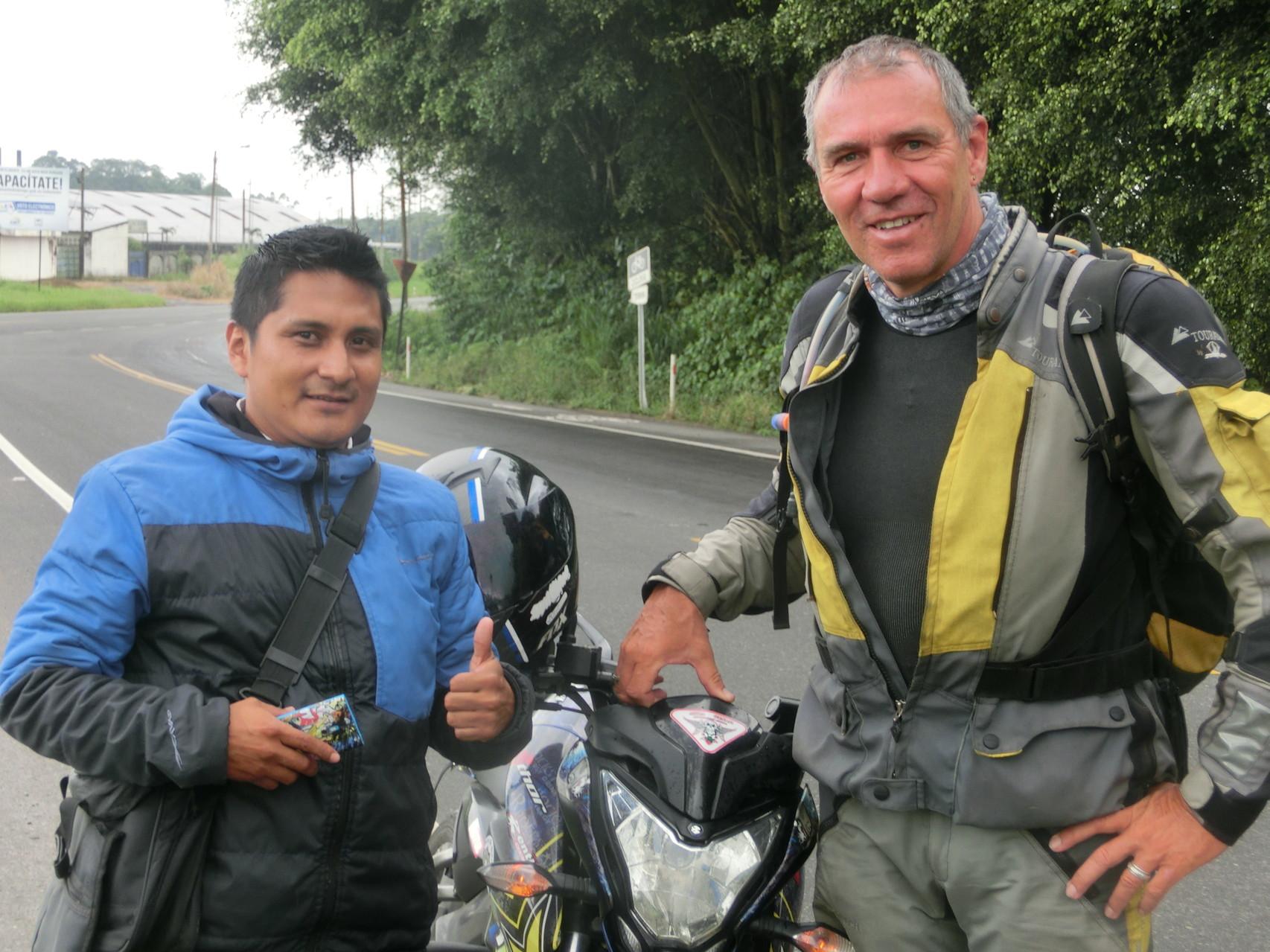 Alf mit Marcello, unserem Santo Domingo-Lotse