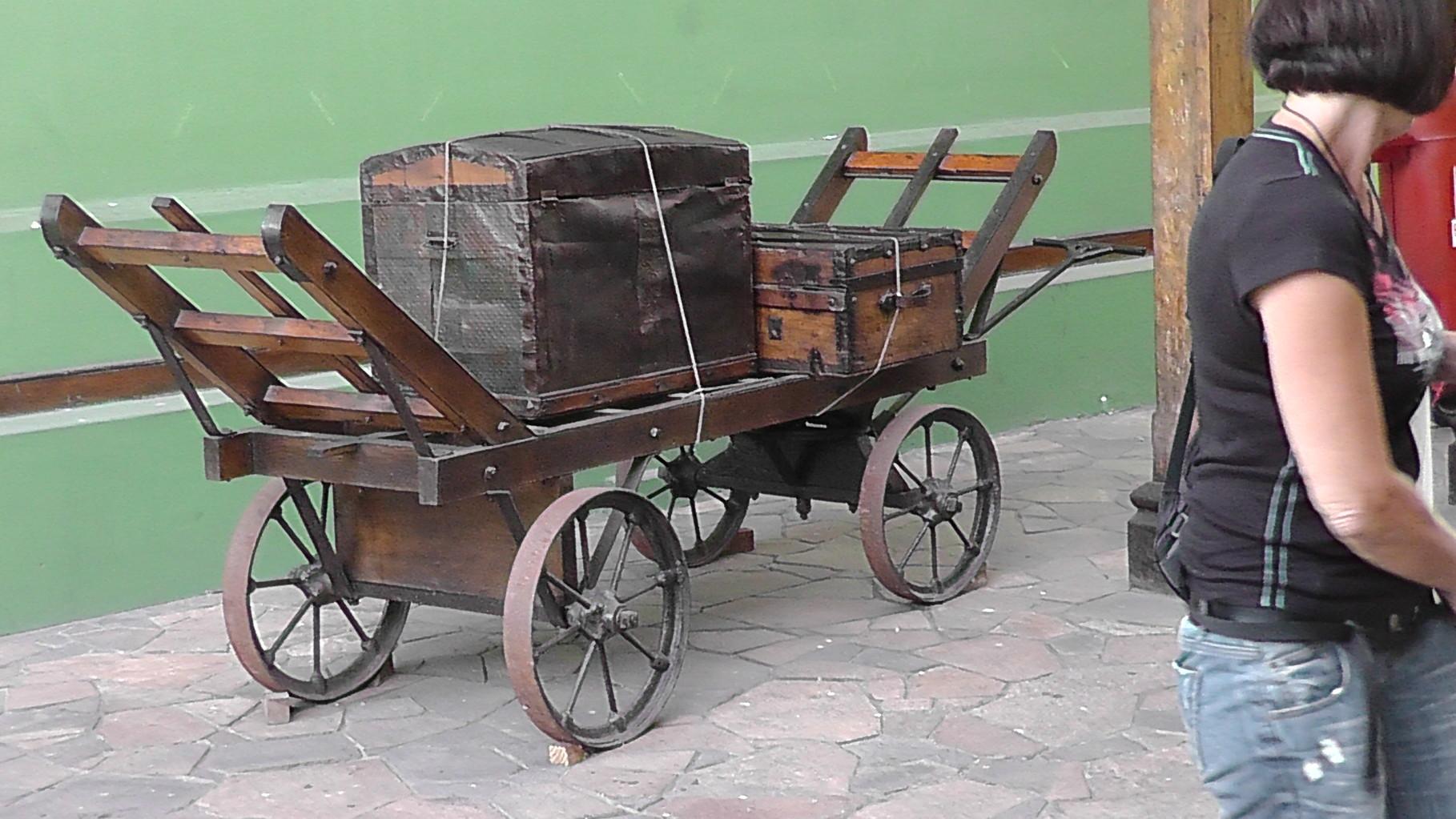 Auch die Kutschenwagen haben dieses Alter