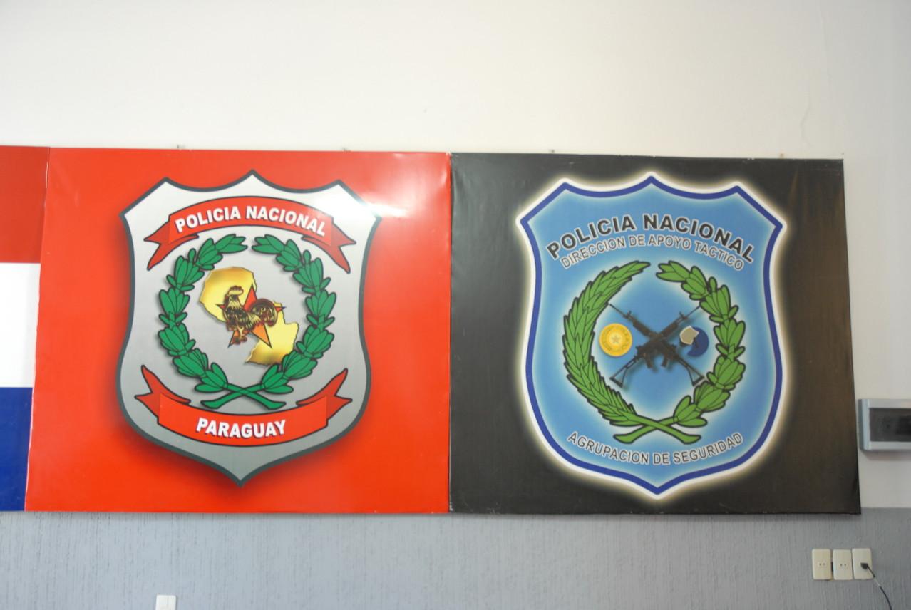 Die Wappen der paraguayanischen Polizei
