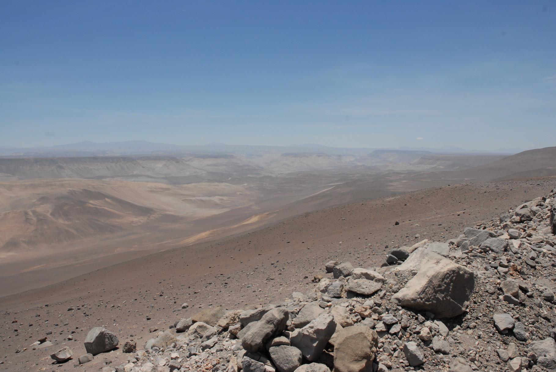 Das Tal bei der Pampa de Suca ...