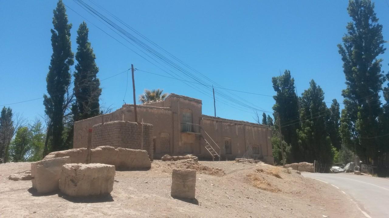 Ein Lehmhaus in der Nähe