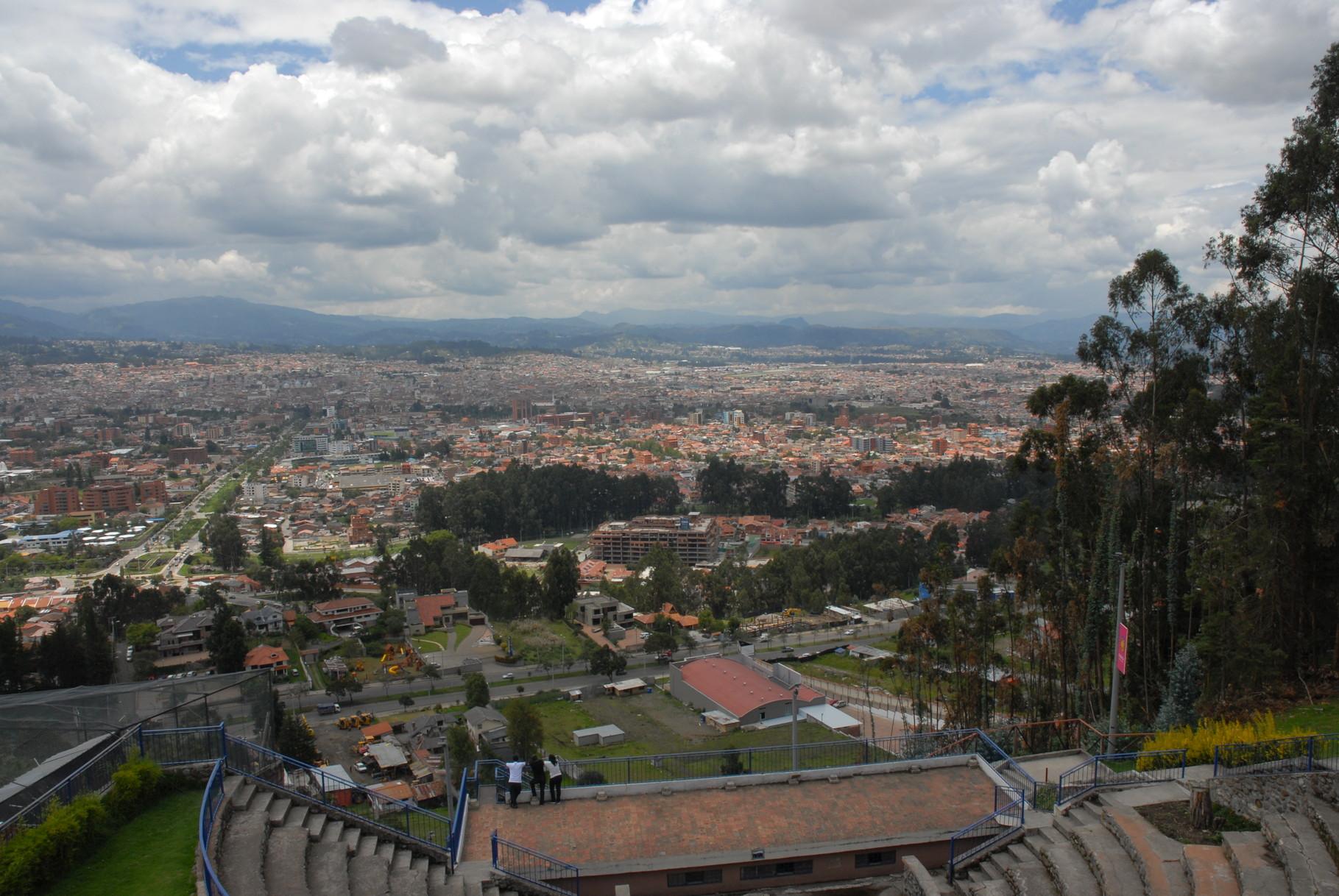 Cuenca von einem Aussichtspunkt aus ... der Norden