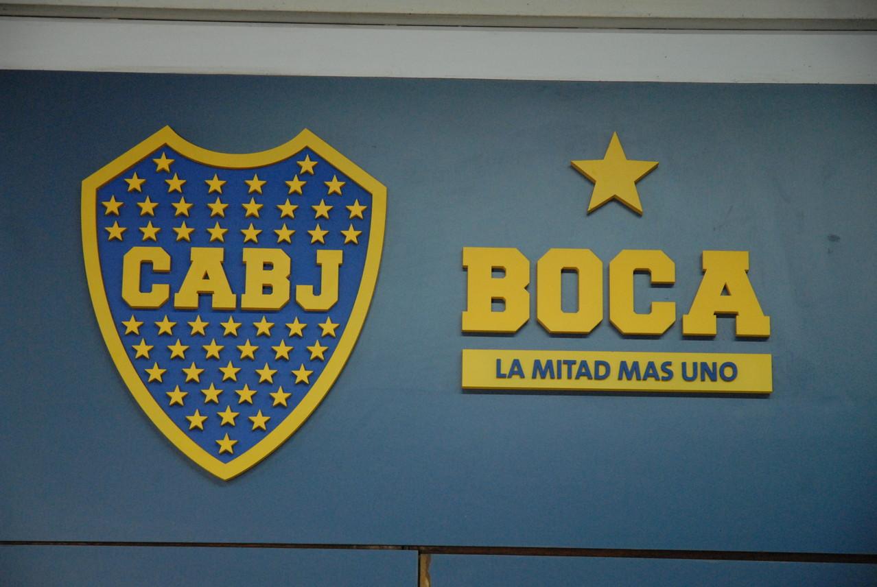 Das Logo des Club Atlético Boca Juniors