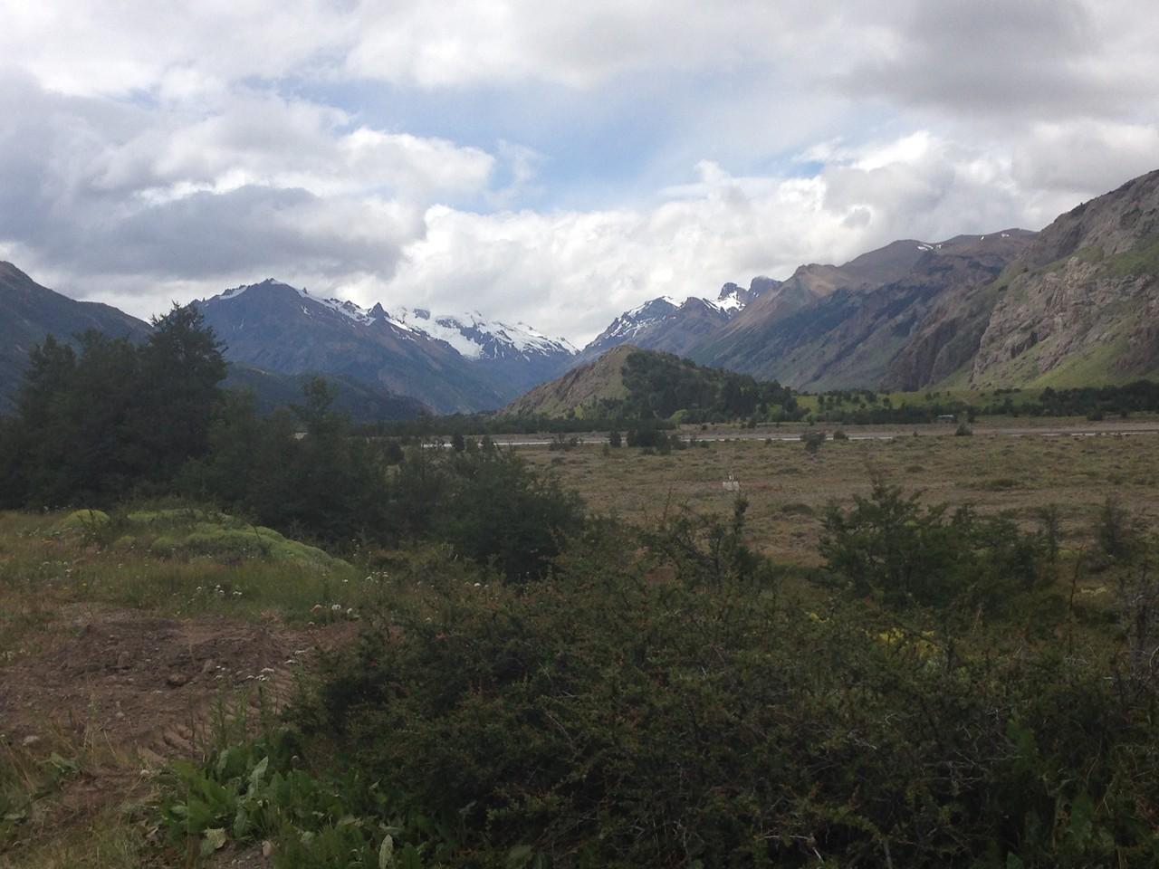 Blick von El Chaltén in Richtung Westen