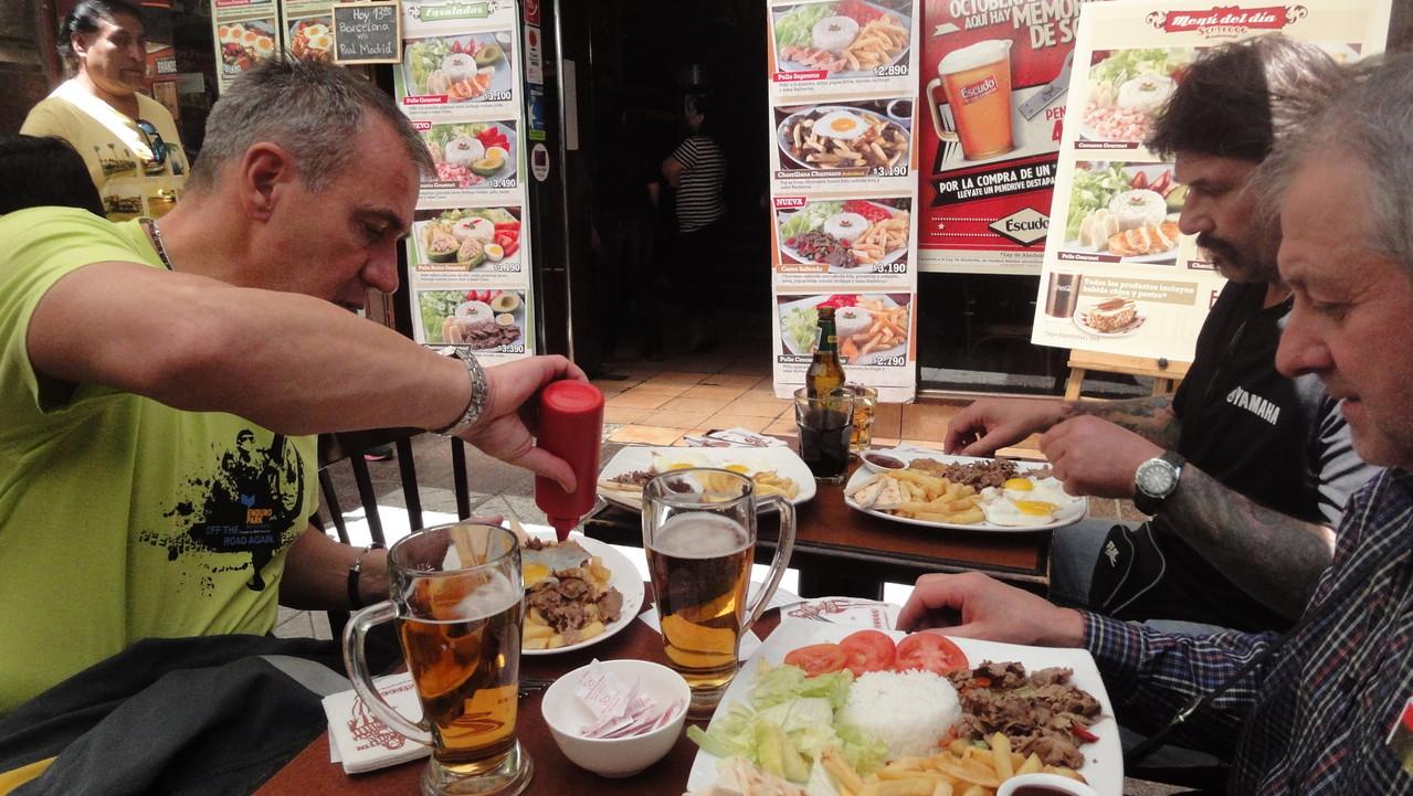 Das erste chilenische Festmahl