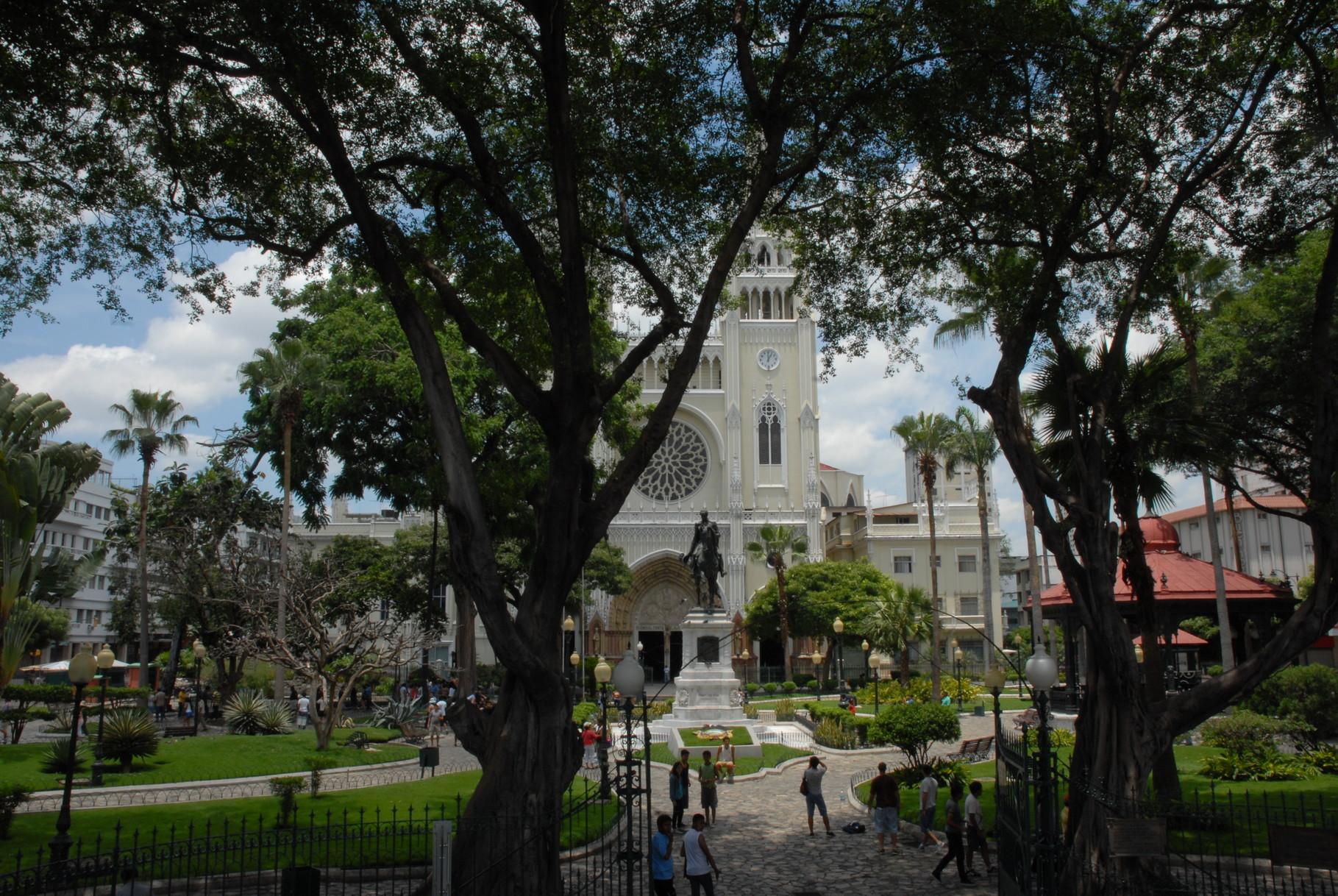 Die Kathedrale hinterm Parque Iguana