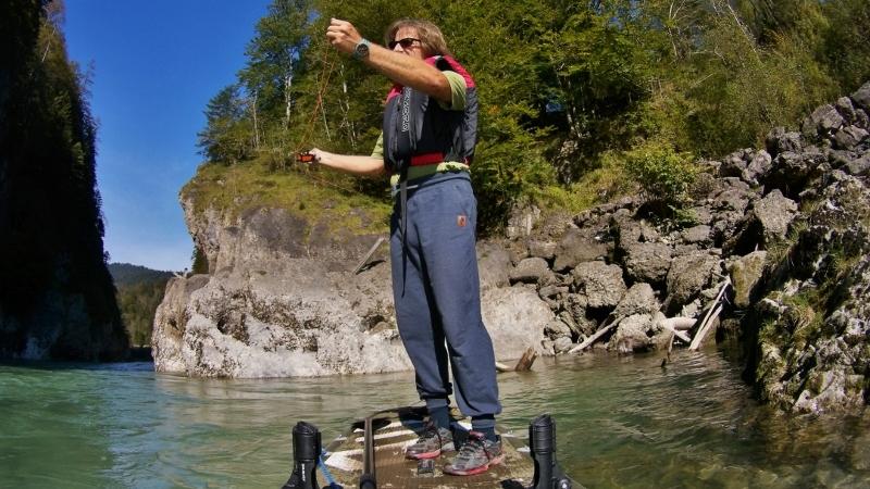Fliegenfischen vom SUP, SUP fly fishing, Flyfishing Enns