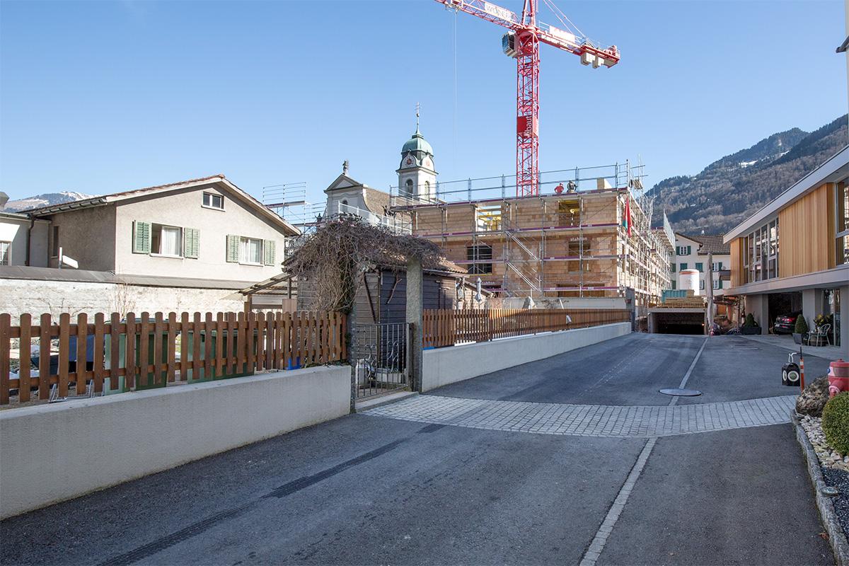 Baufortschritt Februar 2017
