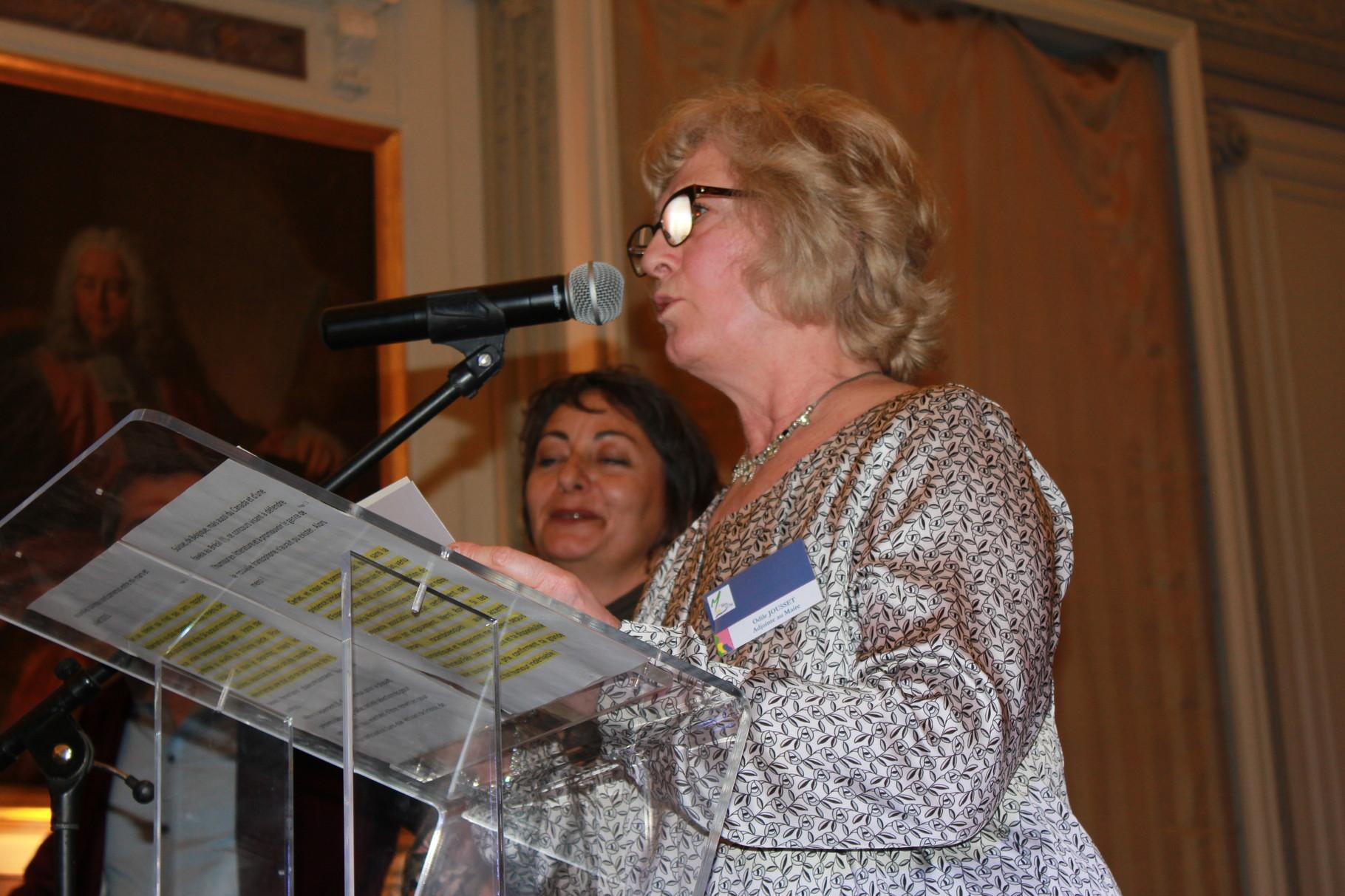 Odile Jouusset annonce le gagnant du 3ème Prix 2016