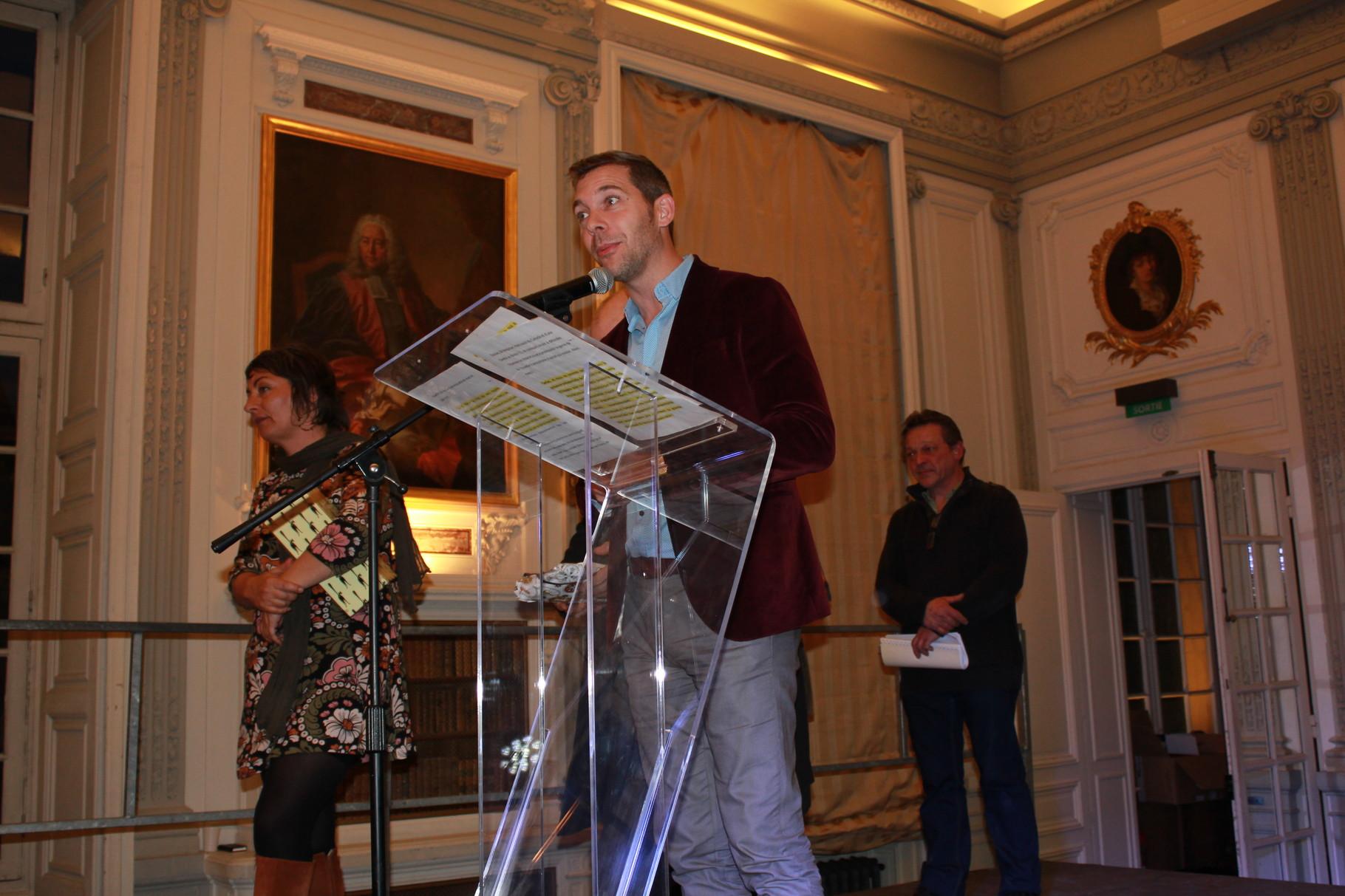 Romain Puértolas, président du jury 2016 s'apprête à annoncer le 1er Prix