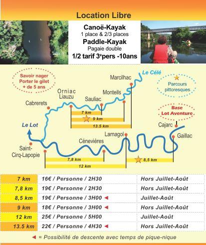 river,descent,descentes,location,canoë,kayak,paddle,Lot,Célé,dordogne,lotaventure,saint cirq lapopie,46,cahors,cajarc,villefranche de Rouergue figeac