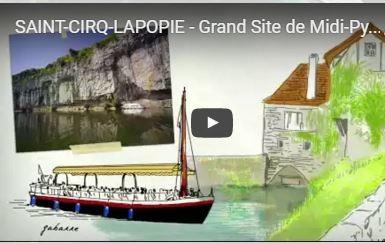 Saint Cirq Lapopie.Reportage grand site midi-Pyrénées.Lot aventure 46.Spéléo et canoë.