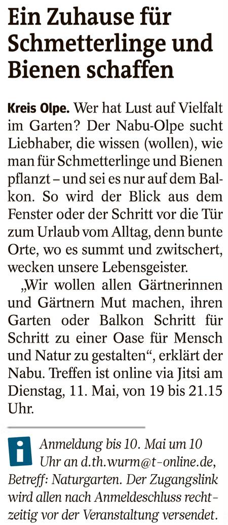 Westfalenpost 05.05.2021