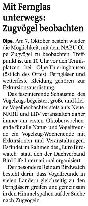 Westfalenpost, 05.10.2018