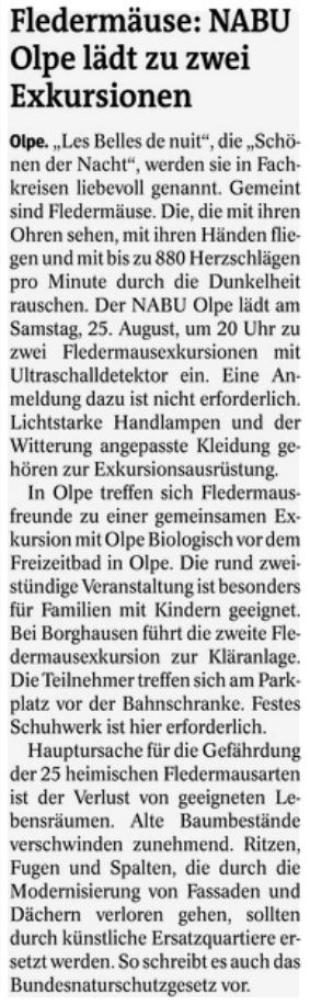Westfalenpost, 09.08.2018