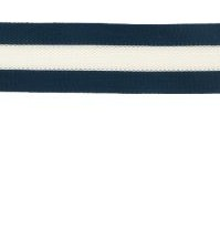 Flexi band blauw/wit