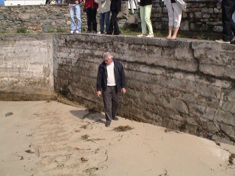 Bernard vérifie que la mer est bien là