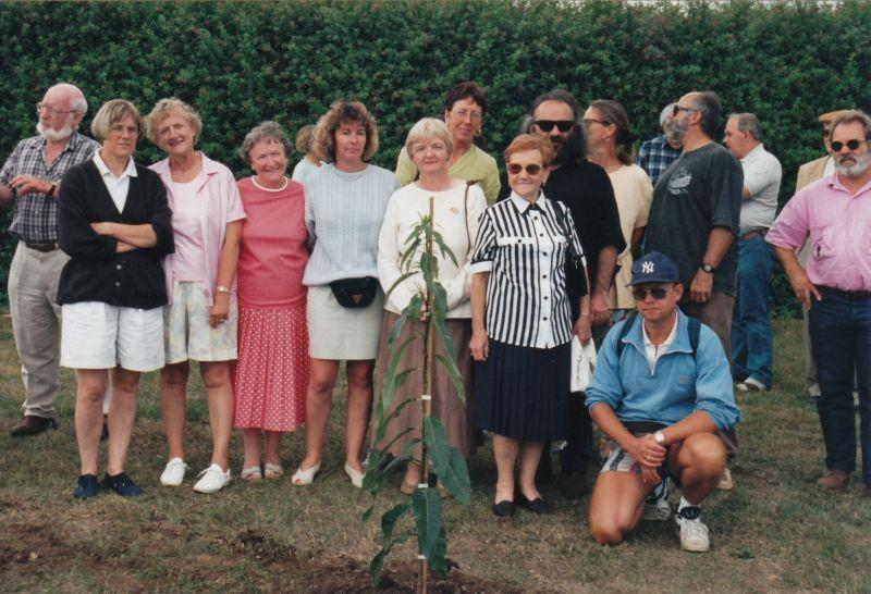 Plantation du châtaigner devant l'école