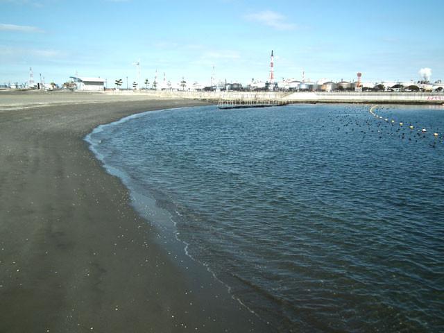 人工海浜「かわさきの浜」