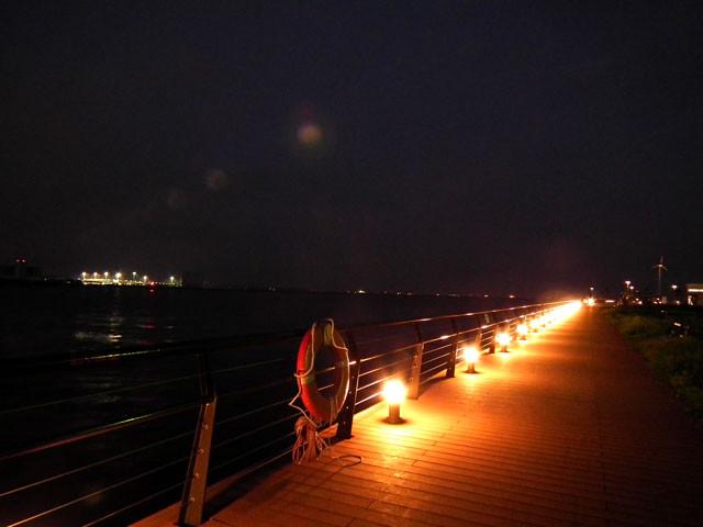 潮風デッキの夜景