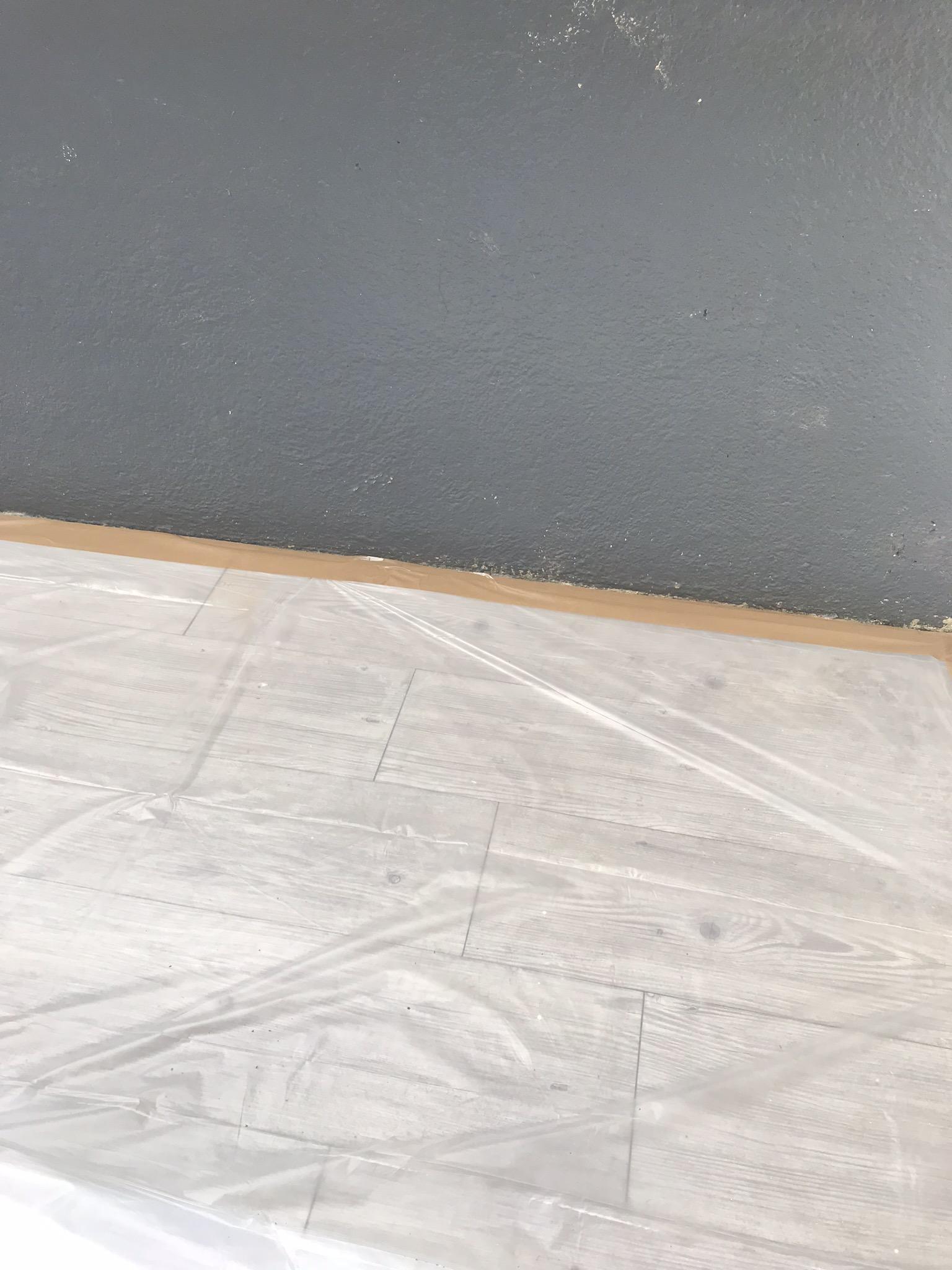 Preparation de la pièce, protection et nettoyage