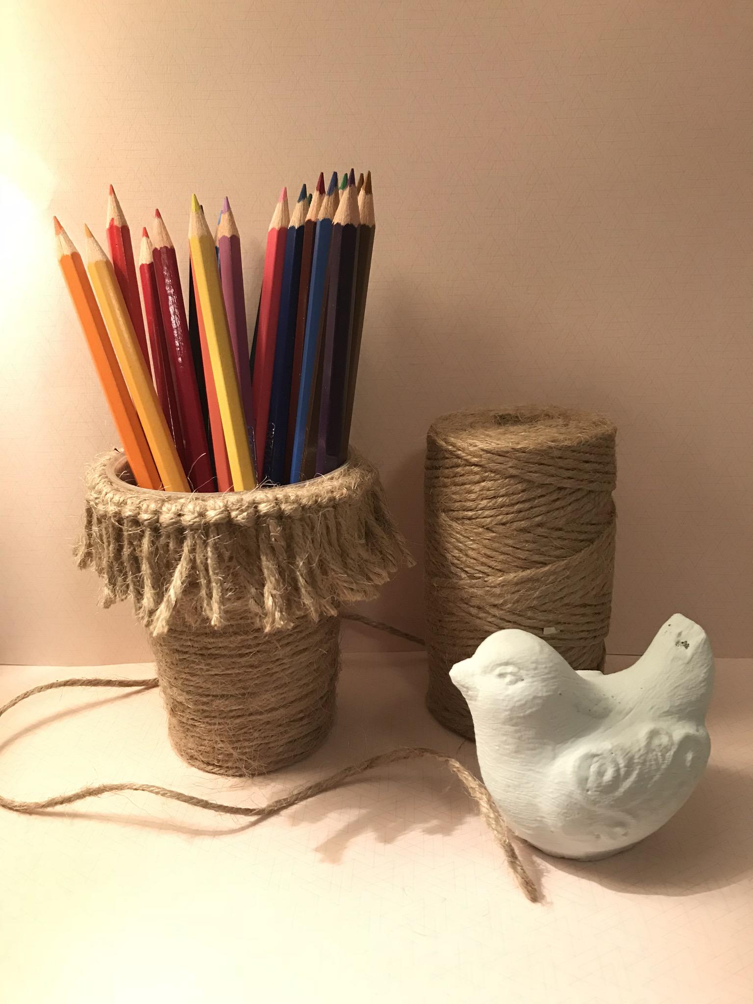 Petit pot pour crayon style Bohème