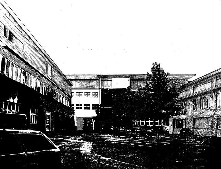 Aufstockung, Erweiterung und Hofgestaltung HH-Allee,  D - Frankfurt a.M.