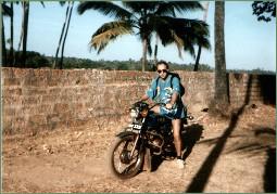 mit dem Motorrad durch Goa 1990